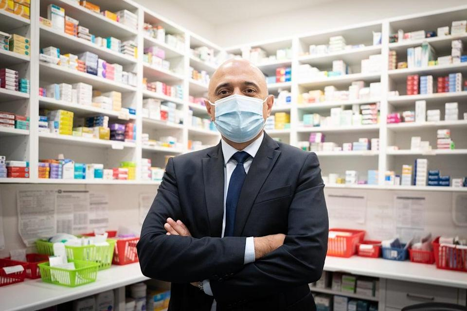 Health Secretary Sajid Javid received his flu vaccination at a pharmacy in central London (Stefan Rousseau/PA) (PA Wire)