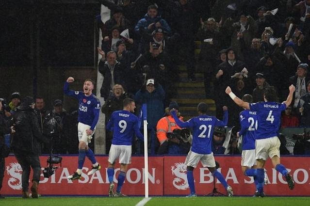 Leicester outclassed Arsenal 2-0 to move second in the Premier League (AFP Photo/Oli SCARFF )