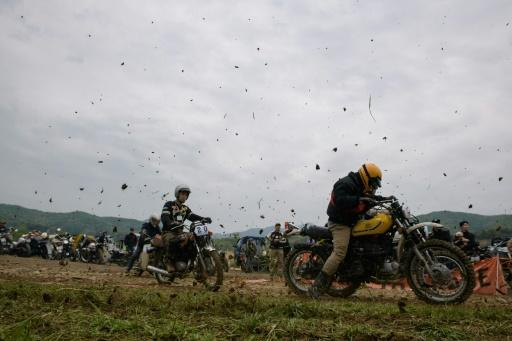 Dust Race is held on a small island in the central city of Chungju and its appeal has been steadily growing since it launched in 2014