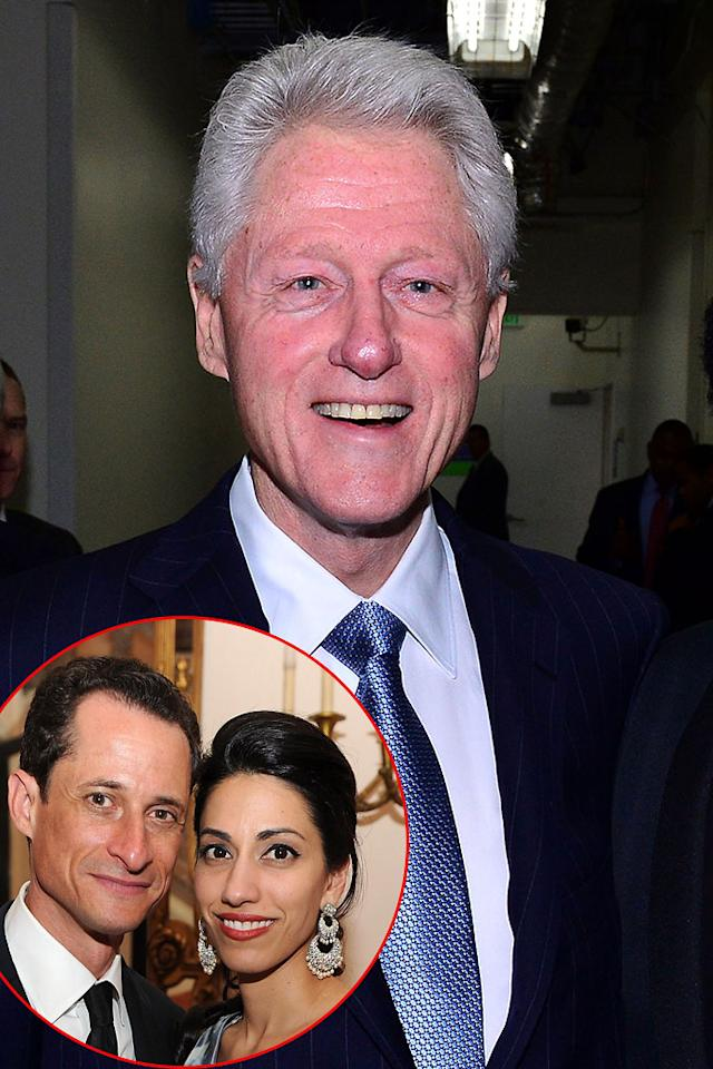 Bill Clinton/Anthony Weiner and Huma Abedin