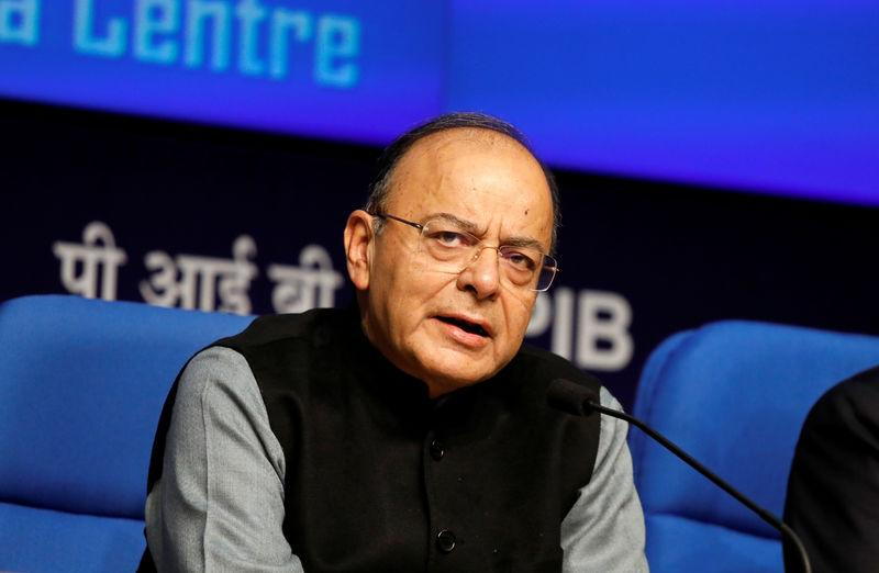 India's Finance Minister Arun Jaitley attends a news conference sharing details about the recapitalisation of public sector banks in New Delhi