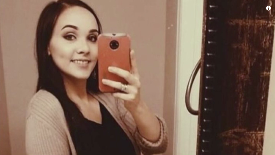 26-year-old Savannah Theberge is pictured.