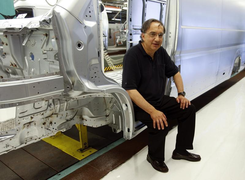 Fiat Chief Executive Marchionne poses during a visit at the carmaker's Sevelsud plant in Atessa