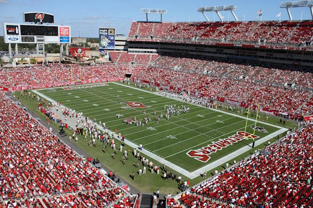 The Buccaneers aren't drawing as many fans to Raymond James Stadium as usual. (AP)
