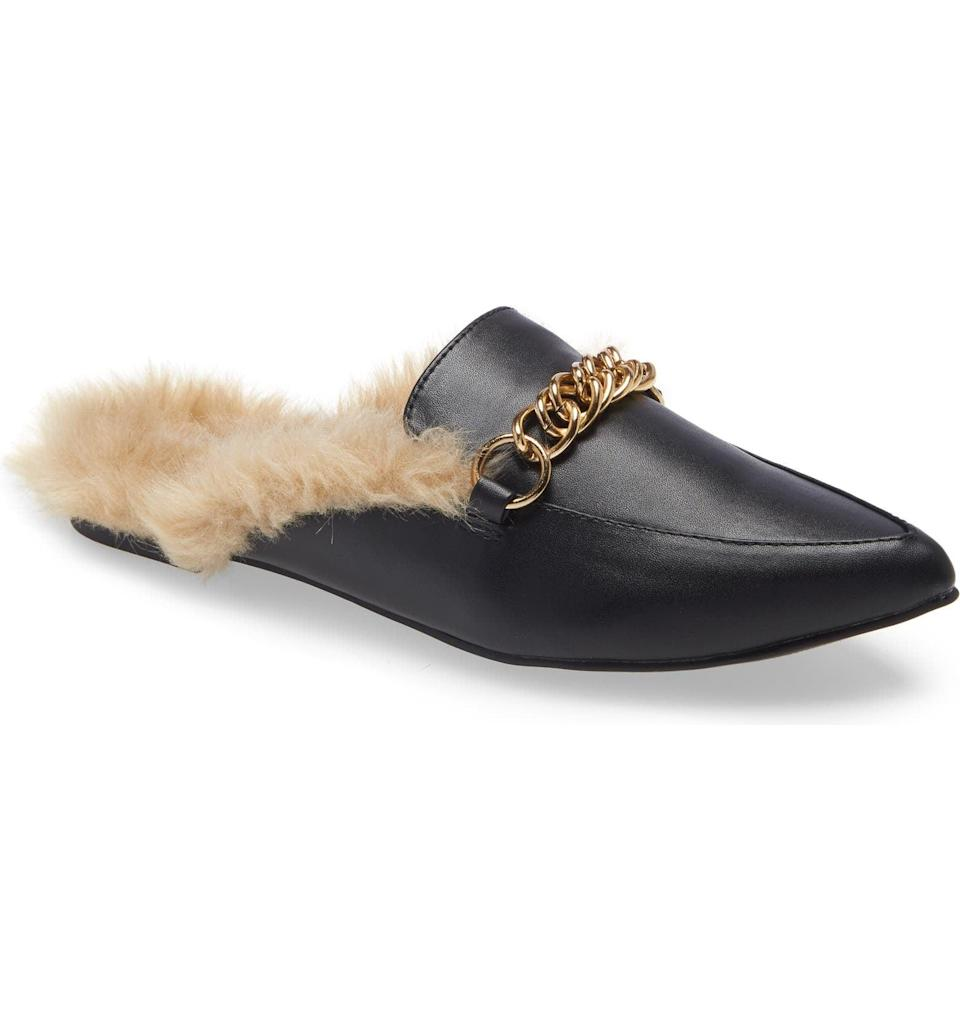 <p><span>Steve Madden Foreseen Faux Fur Lined Mule</span> ($42, originally $70)</p>