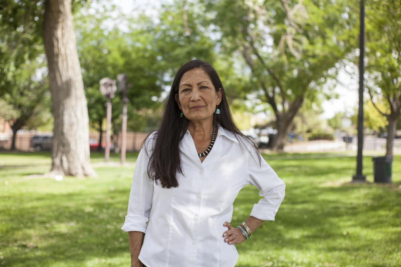 Deb Haaland is one of two Native American women who will now serve in Congress. It took only 229 years. (ASSOCIATED PRESS)