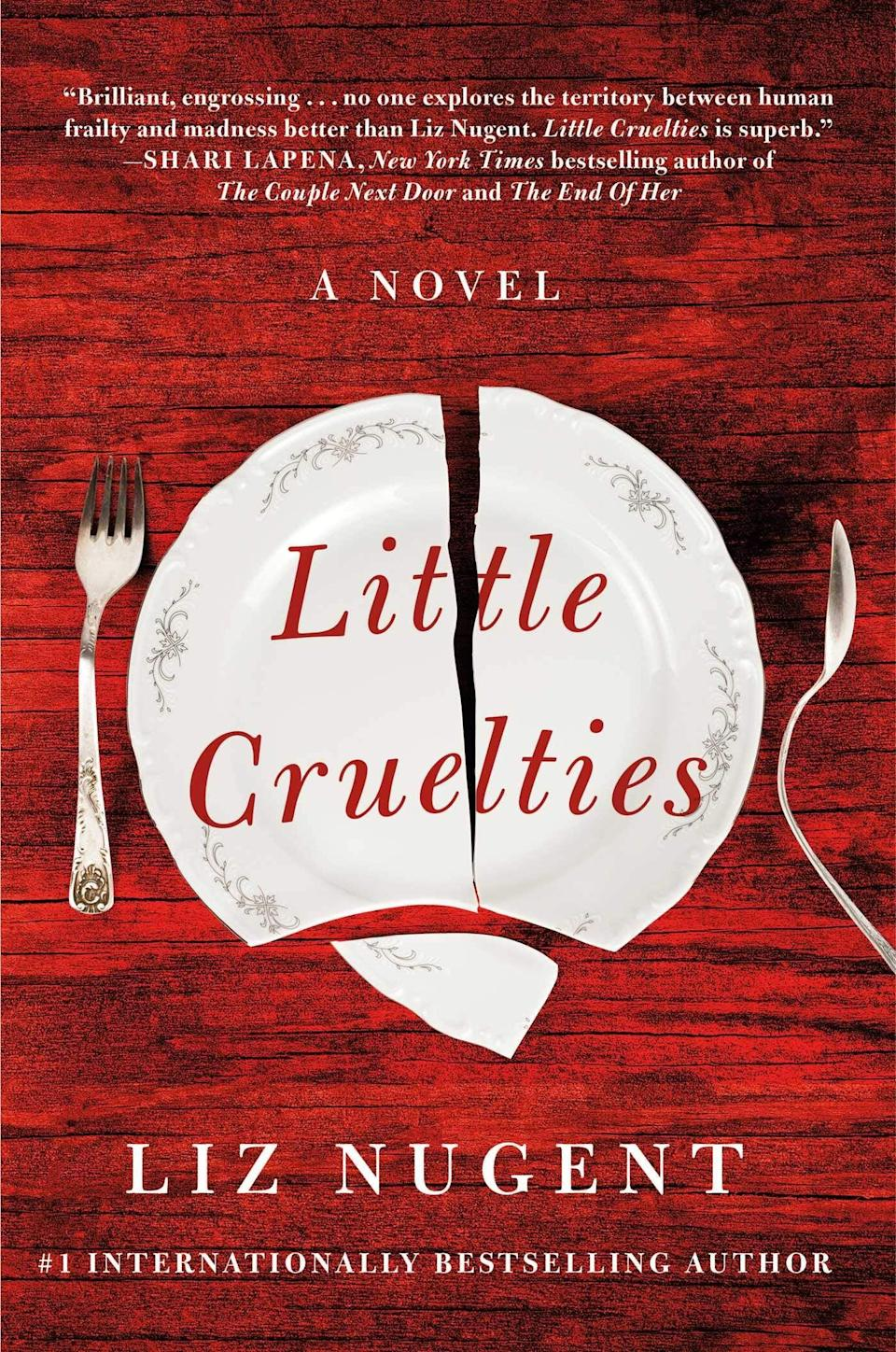 <p>A twisted family with a history of playing dangerous games is at the center of <span><strong>Little Cruelties</strong></span> by Liz Nugent. The Drumm brothers were taught by their mother to compete for her attention as children, and their cruel games have continued into adulthood. Now the brothers are on a collision course that will leave one of them dead and all of their lives shattered. </p> <p><em>Out Nov. 10</em></p>