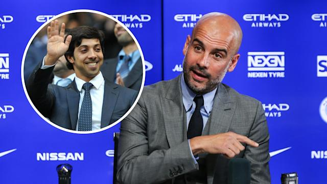Pep Guardiola met with Manchester City chiefs at a training camp in Abu Dhabi earlier this year.