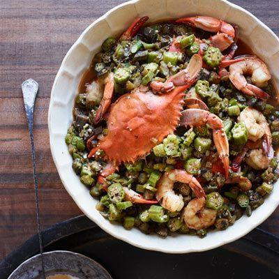 "<p>Use okra to thicken the classic Cajun dish.</p><p>Get the recipe from <a href=""https://www.delish.com/cooking/recipe-ideas/recipes/a18342/okra-gumbo-blue-crabs-shrimp-recipe-fw0112/"" rel=""nofollow noopener"" target=""_blank"" data-ylk=""slk:Delish"" class=""link rapid-noclick-resp"">Delish</a>.</p>"