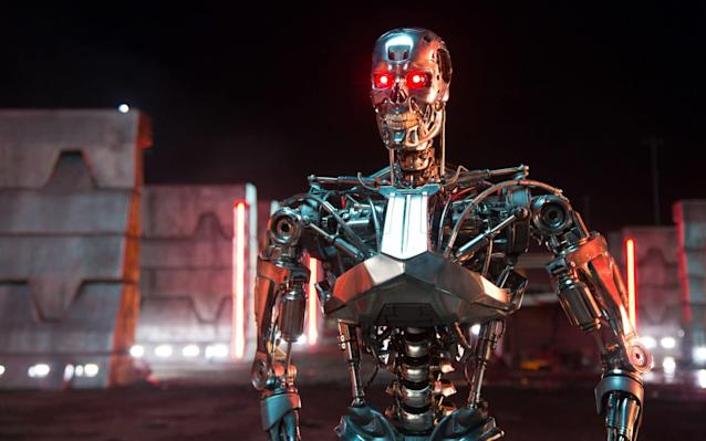 """""""Killer robots"""" which threaten to """"hurt, destroy or deceive human beings"""" could become reality unless the Government improves regulation on artificial intelligence, a Parliamentary report has suggested. A Lords select committee has warned that while Terminator-style weapons may not yet exist, without checks and balances Britain could end up """"stumbling through a semantic haze into dangerous territory."""" In a paper published today, the peers state that Britain's definition of military-grade AI differs significantly from other NATO members, with even the US taking a more cautious approach to the technology. While a number of countries and campaigners, including the billionaire Elon Musk, have called for preemptive legislation to outlaw the technology from use on the battlefield, the UK Government has opposed efforts to ban its development. It comes amid growing international concern that the rapid advance of the technology could soon result in """"lethal autonomous weapons"""" being deployed in conflict zones. Meanwhile, at least 381 partly autonomous weapon and robotic systems are now operationational or in development in 12 countries, including the UK, US, Israel and France. They include an unmanned aircraft currently at prototype stage in the US, while the UK is developing its own driverless vehicles which could be weaponised in the future. Taranis, a British undetectable drone named after the Celtic god of Thunder, can already avoid radar detection and fly in autonomous mode. Separately, the Russian military is amassing an arsenal of aerial and ground vehicles in a situation described by experts as the """"new arms race"""". Last year, Vladimir Putin warned that """"whoever leads in AI will rule the world"""". The concept of killer robots was famously envisioned in the Terminator films, a science fiction series directed by James Cameron and starring Arnold Schwarzenegger, in which the US defence system Skynet becomes self-aware and attempts to wipe out humanity. Last night the chairm"""