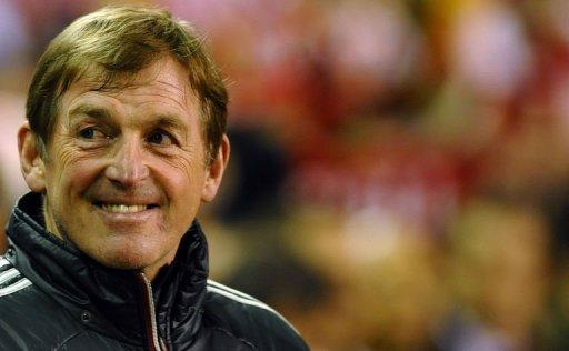 Liverpool's Scottish manager Kenny Dalglish arrives for the English Premier League football match between Liverpool and Everton at Anfield. Steven Gerrard marked his return to Liverpool's starting line-up with a hat-trick as Dalglish's side returned to winning ways with a 3-0 win over Everton in the Merseyside derby on Tuesday