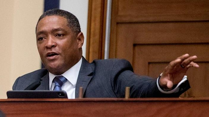 Louisiana Rep. Cedric Richmond speaks during a House Committee on Homeland Security meeting in July that featured testimony on the national response to the coronavirus pandemic. (Photo by Andrew Harnik-Pool/Getty Images)