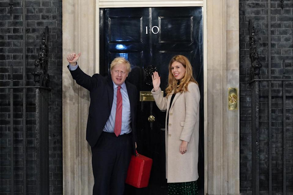 The PM and his fiancee Carrie Symonds have welcomed a Downing Street baby (Getty Images)
