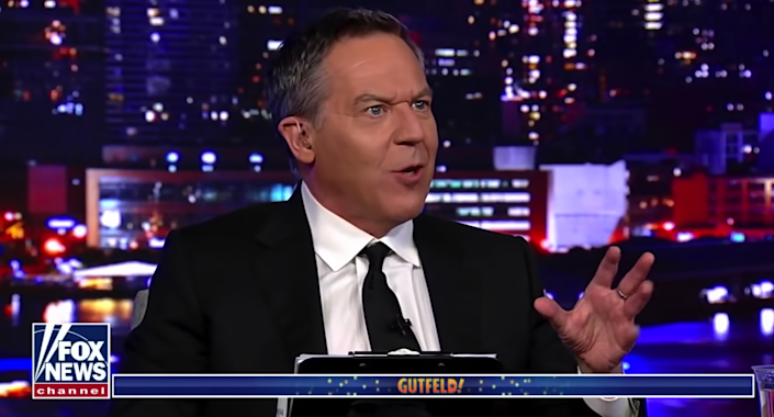 <p>Greg Gutfeld, pictured on his late-night show on Fox News</p> (Fox News)