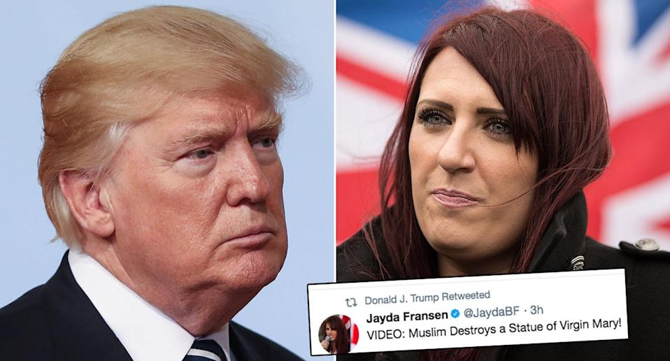 Donald Trump has retweeted videos posted by Jayda Fransen