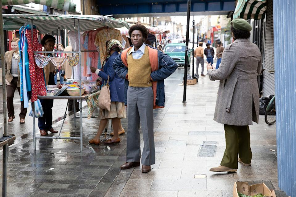<p>Newcomer Sheyi Cole plays writer Alex Wheatle</p>BBC/McQueen Limited/Will Robson-Scott