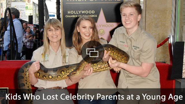 Terri Irwin, Bindi Irwin, Robert Irwin at the induction ceremony for Posthumous Star on the Hollywood Walk of Fame for Steve Irwin, Hollywood Boulevard, Los Angeles, CA April 26, 2018.