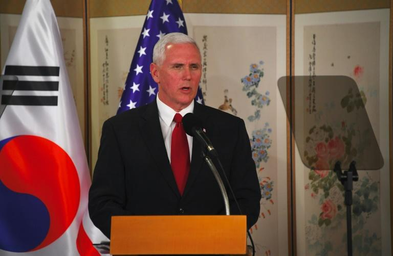 """US Vice President Mike Pence warned that the US policy of """"strategic patience"""" with North Korea was at an end"""