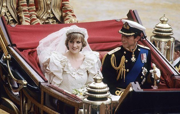 Princess Diana was a tiny size 4 on her wedding day to Prince Charles. Photo: Getty Images