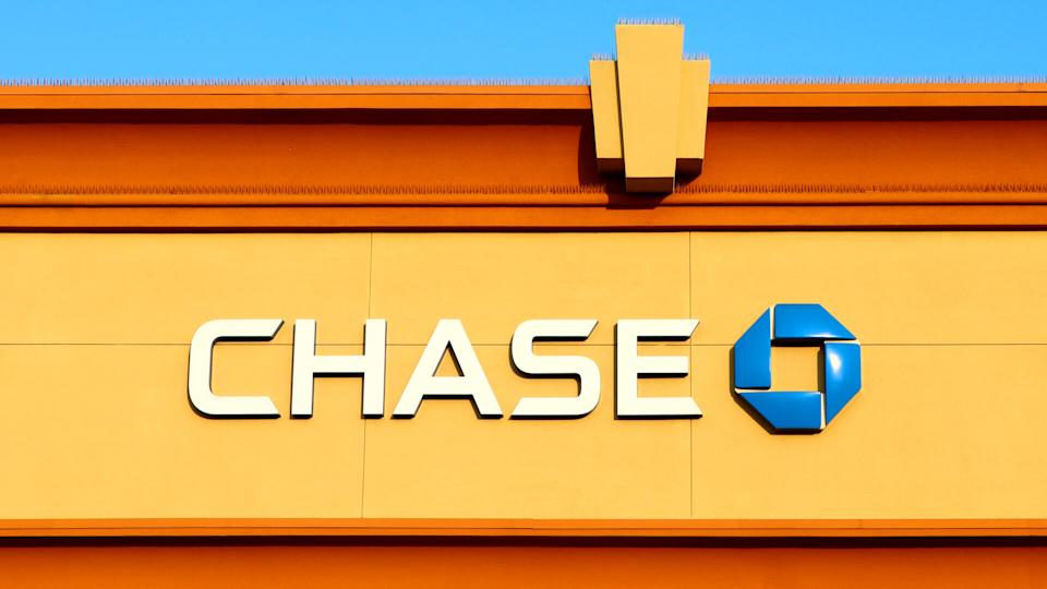 Los Angeles, California - October 9, 2019: Chase Bank on Hollywood Blvd and Western Ave, Los Angeles.