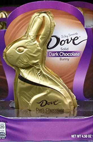 """<p><strong>Dove</strong></p><p>amazon.com</p><p><strong>$15.00</strong></p><p><a href=""""https://www.amazon.com/dp/B00TSQ1GAA?tag=syn-yahoo-20&ascsubtag=%5Bartid%7C2164.g.35452335%5Bsrc%7Cyahoo-us"""" rel=""""nofollow noopener"""" target=""""_blank"""" data-ylk=""""slk:Shop Now"""" class=""""link rapid-noclick-resp"""">Shop Now</a></p><p>Dove makes yummy chocolate, so it's no surprise this Easter bunny earns raves. One Amazon reviewer puts it best: """"It's Dove, dark chocolate, and solid - what is there to say? Delicious!"""" </p>"""