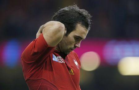 FILE PHOTO: Rugby Union - New Zealand v France - IRB Rugby World Cup 2015 Quarter Final - Millennium Stadium, Cardiff, Wales - 17/10/15 France's Morgan Parra looks dejected at the end of the game Action Images via Reuters / Peter Cziborra Livepic