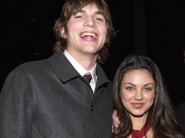 """Ashton Kutcher and Mila Kunis met on the set of """"That '70s Show."""" <p class=""""copyright"""">Chris Weeks/Liaison/Getty Images</p>"""