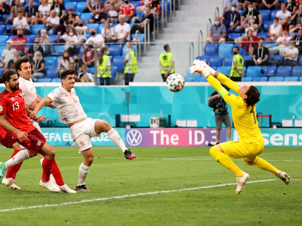 Yann Sommer makes one of many saves to deny Spain (Getty Images)