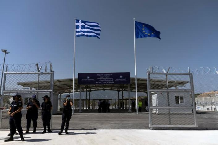 Inauguration of a closed-type migrant camp on the island of Samos