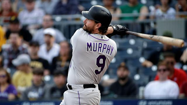 "<a class=""link rapid-noclick-resp"" href=""/mlb/players/8314/"" data-ylk=""slk:Daniel Murphy"">Daniel Murphy</a> homered Wednesday, and gets the Baltimore staff on the weekend (AP Photo/Gene J. Puskar)"