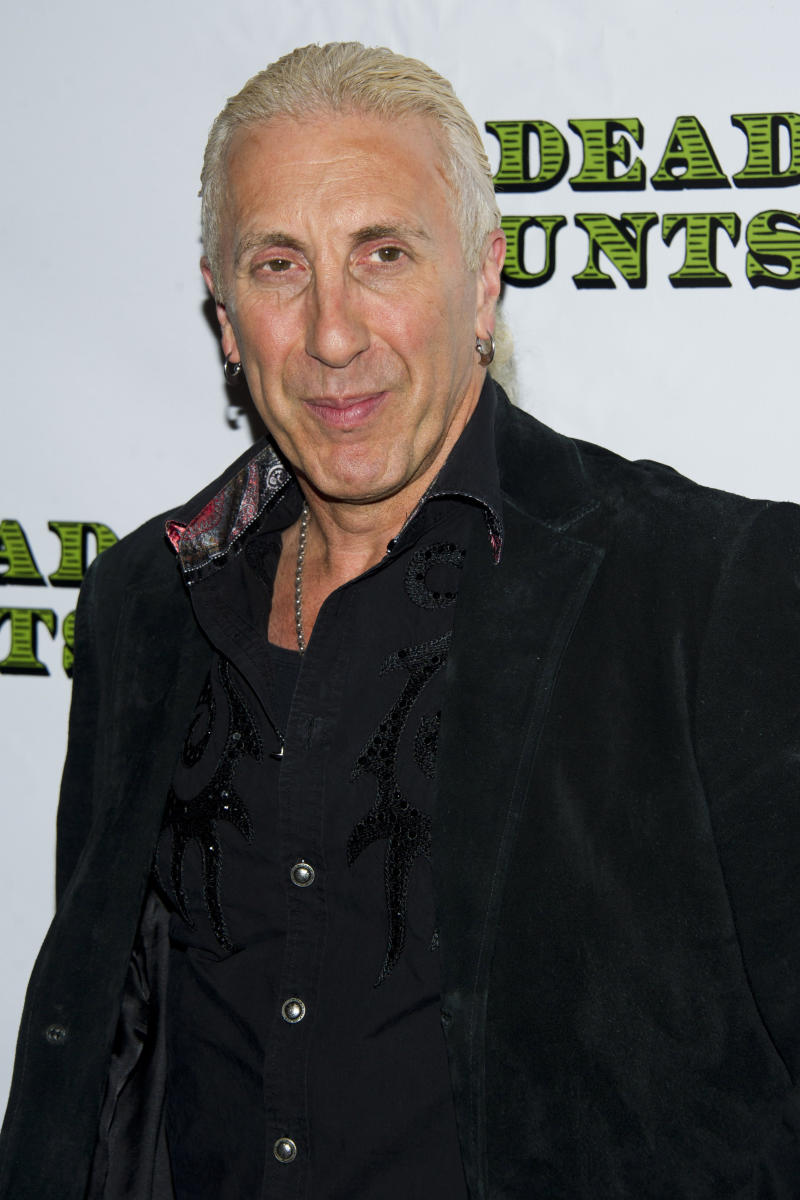 "FILE - In this Nov. 12, 2012 file photo, Dee Snider arrives at the opening night performance of the Broadway play ""Dead Accounts,"" in New York. Snider, lead singer of the '80s heavy metal band Twisted Sister, will be headlining the nightclub 54 Below, taking on such standards as ""Mack the Knife"" and ""Cabaret."" (Photo by Charles Sykes/Invision/AP, File)"