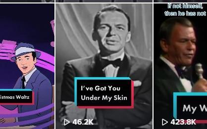 Frank Sinatra's official TikTok account currently has 102,000 followers