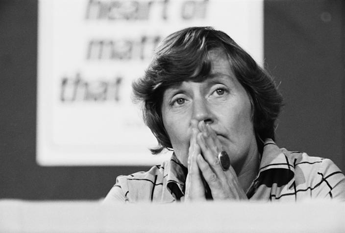 Williams at the Labour conference in 1976Getty