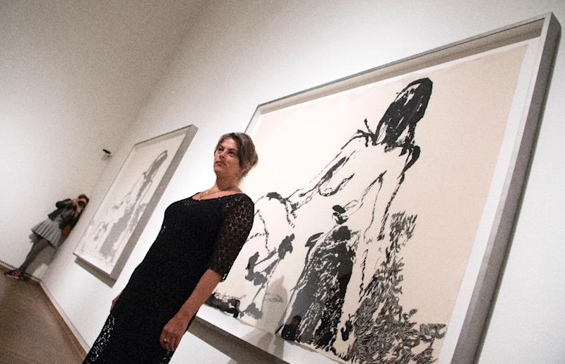 British artist Tracey Emin has around 50 of her often highly sexualised works on display at Vienna's Leopold Museum (AFP Photo/Joe Klamar)