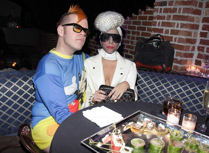 NEW YORK - SEPTEMBER 15: Perez Hilton and Lady Gaga attend the CocoPerez.com launch party at Juliet on September 15, 2009 in New York City. (Photo by Jerritt Clark/WireImage)