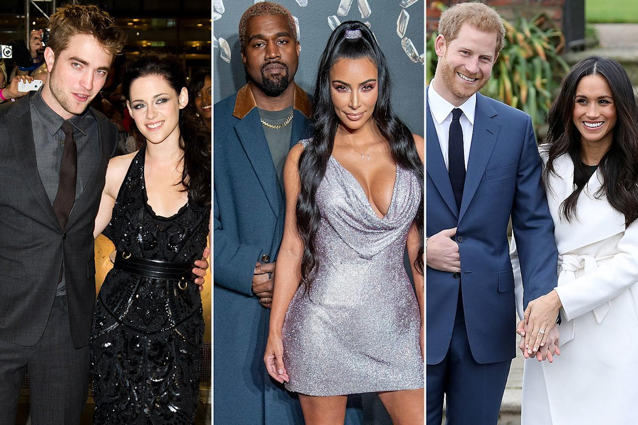 As the 2010s are coming to a close, we've seen celebrity couples come, go, come back again and end for good. But each year had its own golden couple. From RPattz & K. Stew to J. Lo and A-Rod, here are the celebrity couples we couldn't stop talking about, each year of the 2010s.