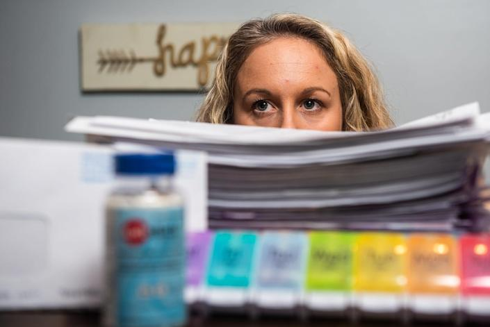 A mountain of paperwork followed, some related to her fight for workers compensation.