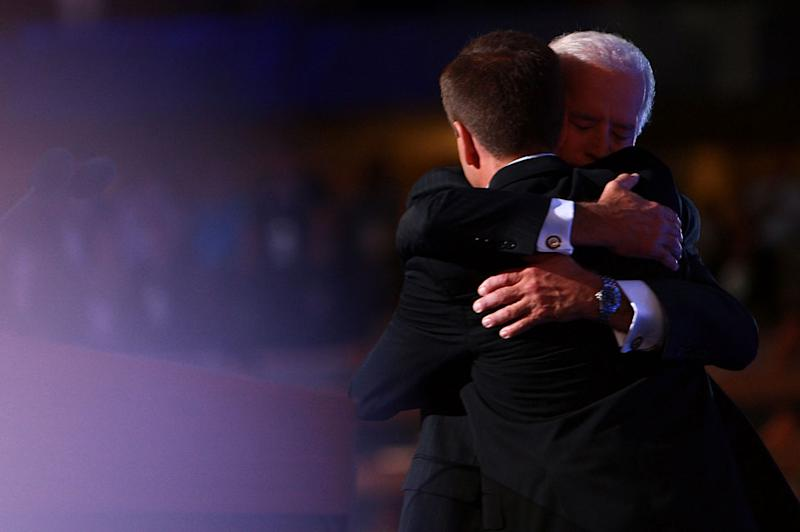 Biden with son Beau who died in 2015
