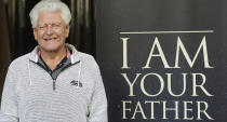 """Bristolian acting star David Drowse, who was best known for playing Darth Vader in the original <em>Star Wars</em> trilogy, died aged 85 in November. The 6'6"""" weightlifter-turned-actor was also played road safety mascot the Green Cross Code Man in the UK and earned himself an MBE through doing so. (Photo by Carlos Alvarez/Getty Images)"""