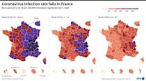 Coronavirus infection rate falls in France