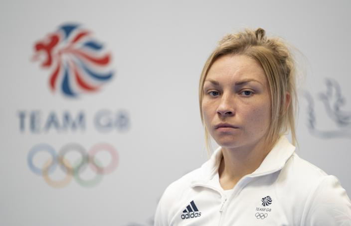Lauren Price during the kitting out session for the Tokyo Olympics 2020 at the Birmingham NEC, UK. Picture date: Monday June 21, 2021. (PA Wire)