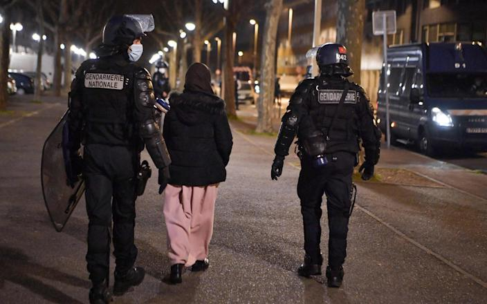 Police in Lyon have often been accused of violent tactics - GETTY IMAGES