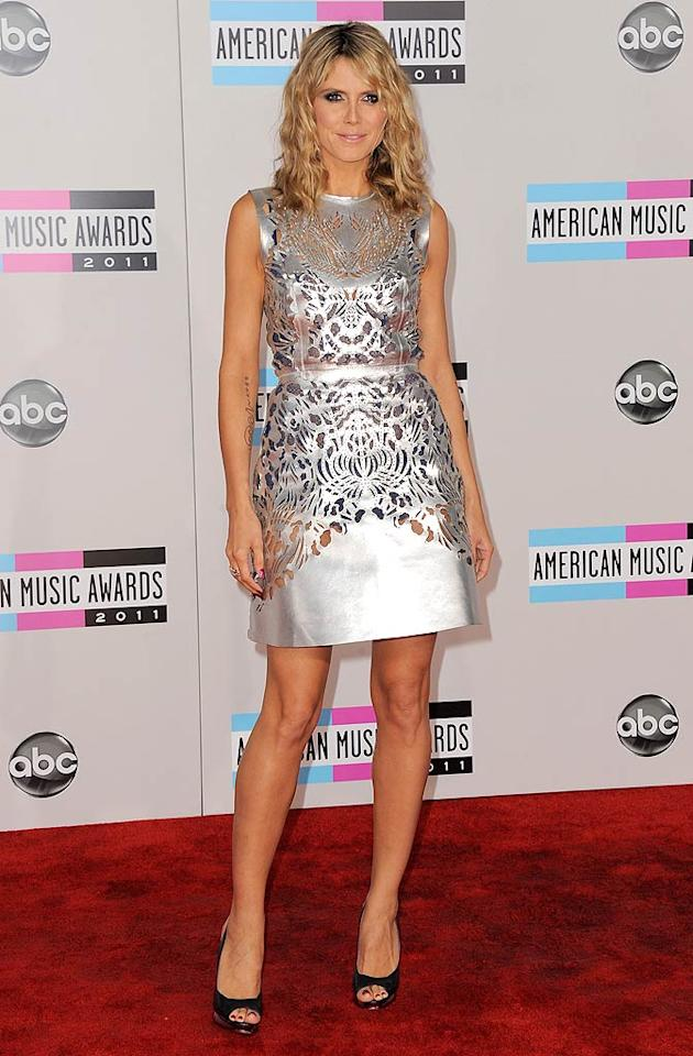 Heidi Klum arrives at the 2011 American Music Awards held at the Nokia Theatre L.A. Live. (11/20/2011)