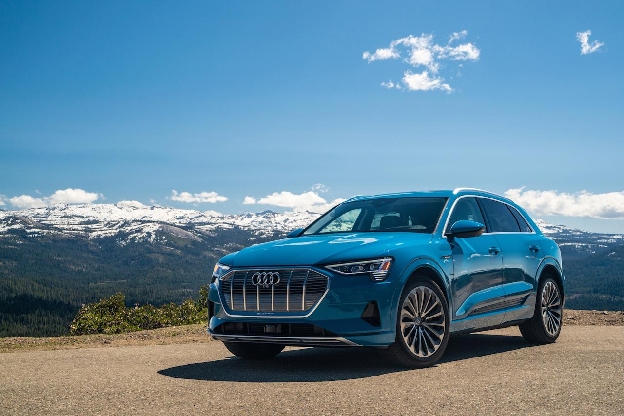 """Audi has positioned the first vehicle from its battery-powered E-tron sub-brand right in the most popular segment of the current automotive marketplace, the <a href=""""https://www.architecturaldigest.com/story/mercedes-eqc-audi-e-tron-new-tesla-fighters?mbid=synd_yahoo_rss"""">luxury mid-sized SUV</a>. With 200+ miles of range for $74,000, it's a handsome and intriguing prospect."""