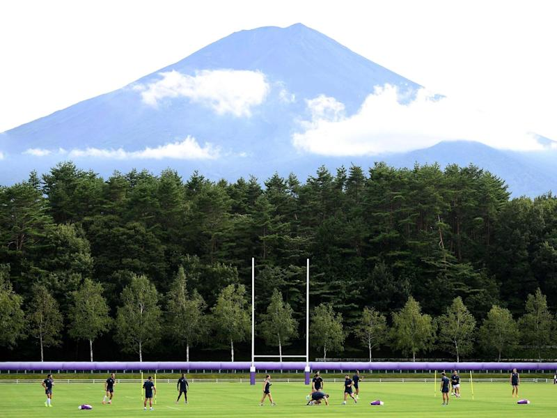 France's players attends a training session at the Fuji Hokuroku Park: AFP/Getty Images
