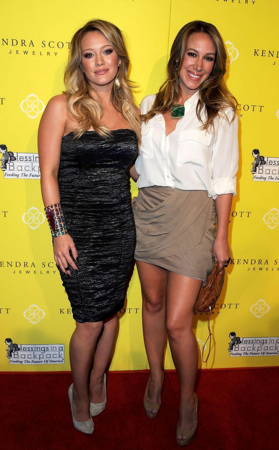 <p> While Haylie Duff is older, Hilary started entertaining first, starring in <em>Casper Meets Wendy </em>as a child. Haylie later joined her and the sisters even co-starred on-screen a few times. While the Duffs aren't identical, their hazel almond-shaped eyes will make you do a double take. </p>