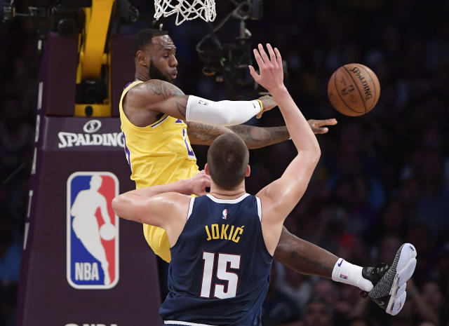 Yes, LeBron James can still do it all for the Lakers. (AP)