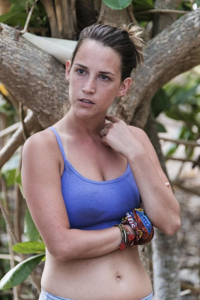 Ciera Eastin at Mana tribe's camp on Survivor: Game Changers