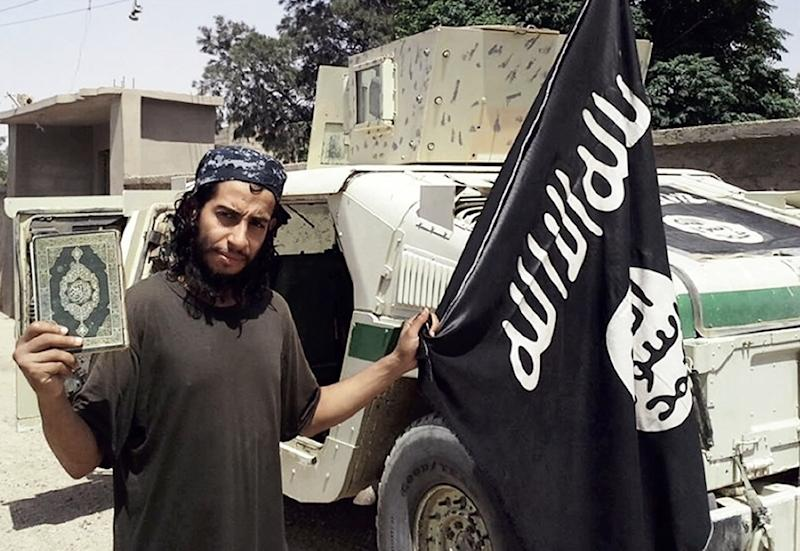 An undated picture taken from the February 2015 issue of the Islamic State group's online magazine Dabiq purportedly shows Belgian IS militant Abdelhamid Abaaoud (AFP Photo/)