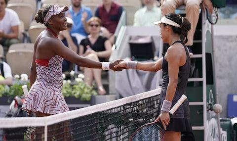 37-year-old Venus Williams lost to China's Wang Quang - Credit: GETTY IMAGES